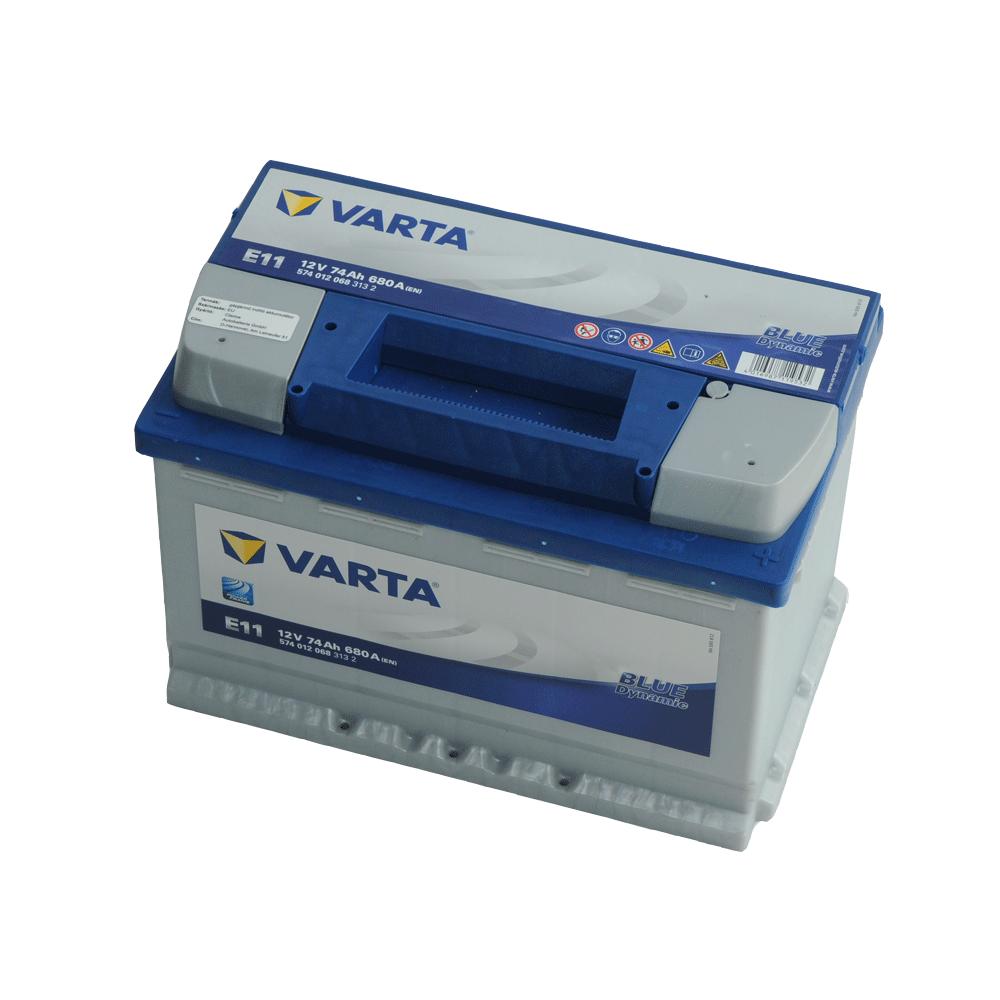 Varta 12V 74Ah 680A Jobb+ autó akkumulátor