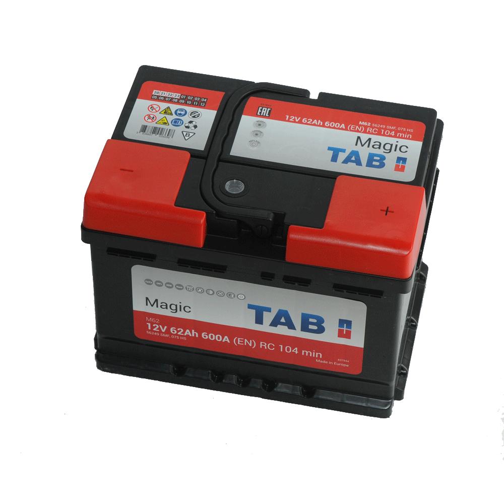 TAB Magic 12V 62Ah 600A Jobb+ autó akkumulátor