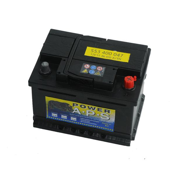 APS 12V 53Ah 470A Jobb+ autó akkumulátor