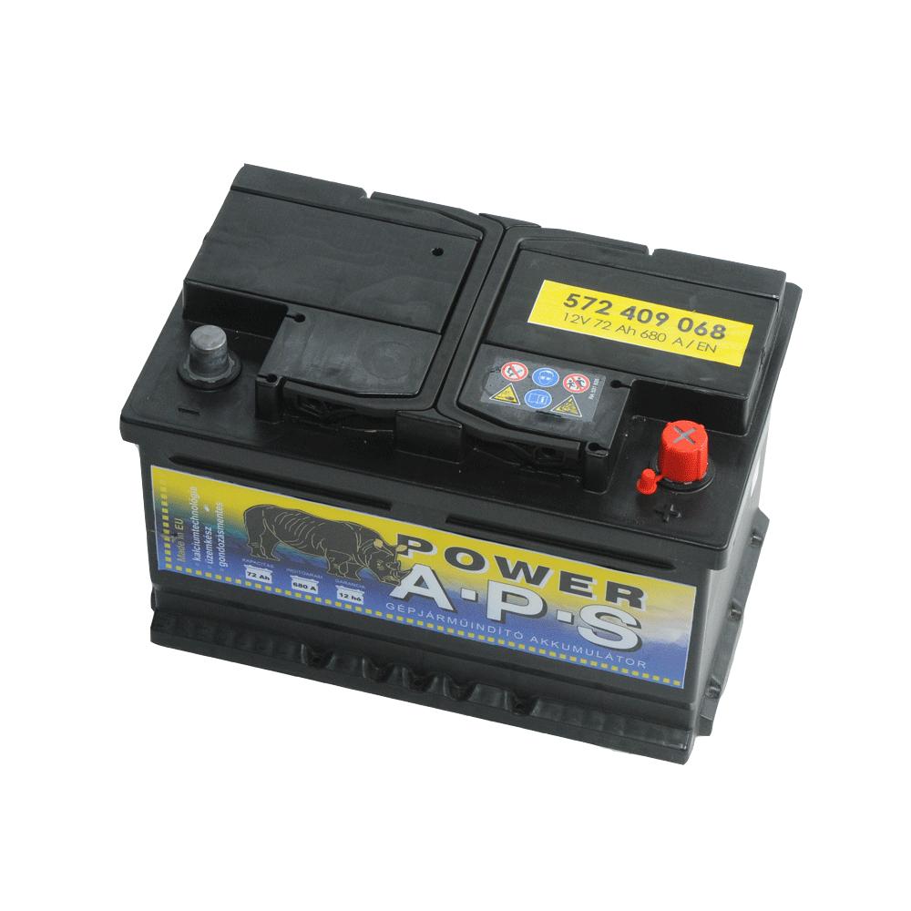 APS 12V 72Ah 680A Jobb+ autó akkumulátor
