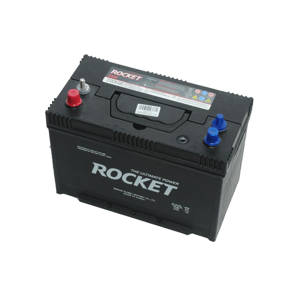 Rocket 12V 110Ah 680A Bal+ munka- vagy meghajtó akkumulátor